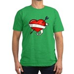 I Love (Front) Men's Fitted T-Shirt (dark)