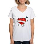 Tattoo Women's V-Neck T-Shirt