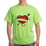 Tattoo (Front) Green T-Shirt