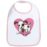 I Love My Pitbull Bib