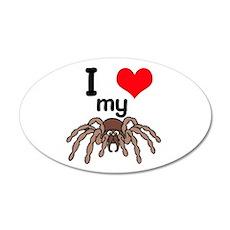 I Heart (Love) My Tarantula 22x14 Oval Wall Peel