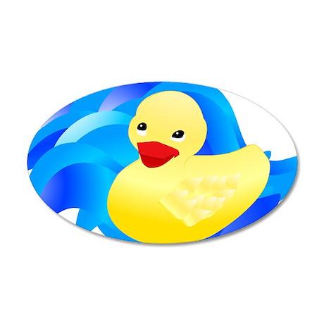 Rubber Ducky 38.5 x 24.5 Oval Wall Peel