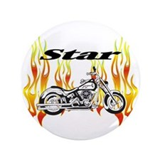 "Yamaha Star Motorcycle 3.5"" Button"
