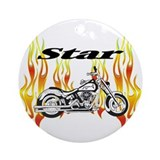 Yamaha Star Motorcycle Ornament (Round)