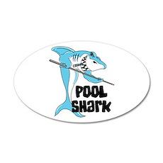Pool Shark 38.5 x 24.5 Oval Wall Peel