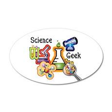 Science Geek 38.5 x 24.5 Oval Wall Peel