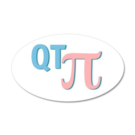 QT Pi (Cutie Pie) 22x14 Oval Wall Peel