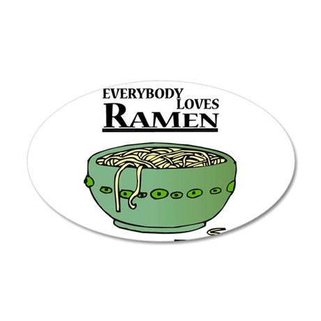 Everybody Loves Ramen (noodle 38.5 x 24.5 Oval Wal