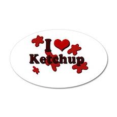 I Love Ketchup 38.5 x 24.5 Oval Wall Peel