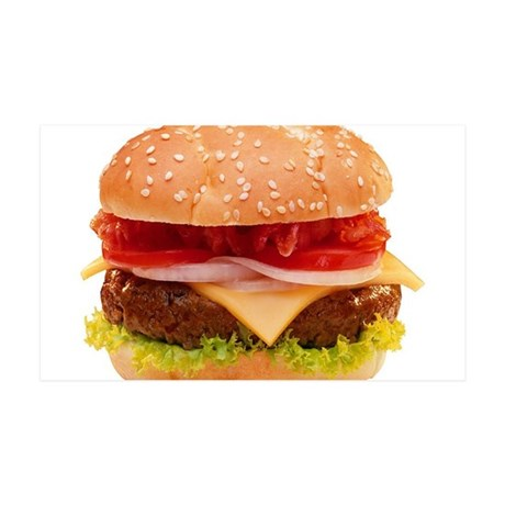 yummy cheeseburger photo 35x21 Wall Decal