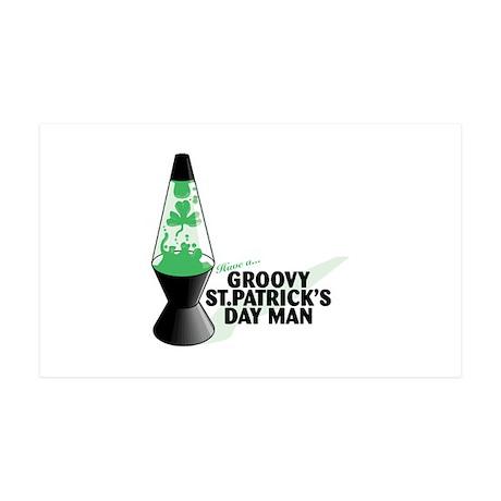 Groovy St. Patrick's Day 38.5 x 24.5 Wall Peel