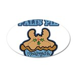 Palin Pie (Moose Berry Pie) 22x14 Oval Wall Peel
