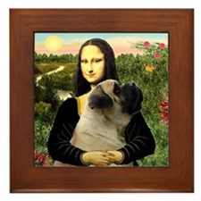 Mona & her Mastiff (#7) Framed Tile
