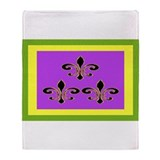 Mardi Gras Flag Throw Blanket