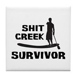 Shit Creek Survivor Tile Coaster