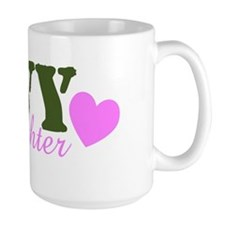 Navy Daughter Green & Heart Mug