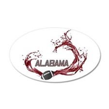 Crimson Tide 22x14 Oval Wall Peel