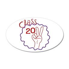 Class 2011 Peace 22x14 Oval Wall Peel