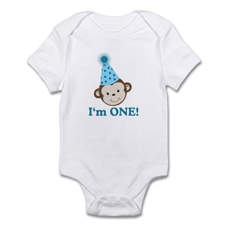 First Birthday Cute Monkey Infant Bodysuit