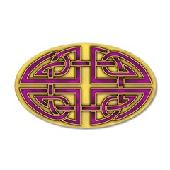Celtic Purple=Gold Knot 38.5 x 24.5 Oval Wall Peel