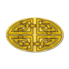 Celtic Gold Knotwork 38.5 x 24.5 Oval Wall Peel