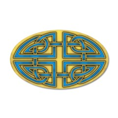 Celtic Blue-Gold Knots 38.5 x 24.5 Oval Wall Peel