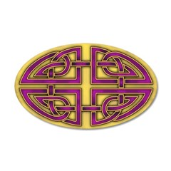 Celtic Purple-Gold 22x14 Oval Wall Peel