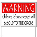 Child Warning Yard Sign
