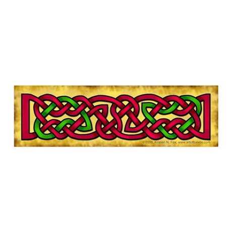 Celtic Red-Green Knotwork 21x7 Wall Peel