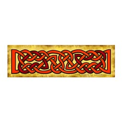 Celtic Orange-Red Knotwork 21x7 Wall Peel