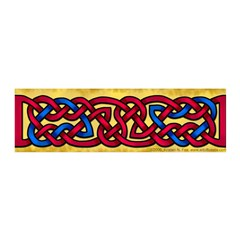 Celtic Red-Blue Knotwork 42x14 Wall Peel