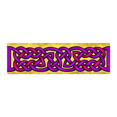 Celtic Purple-Pink Knotwork 42x14 Wall Peel