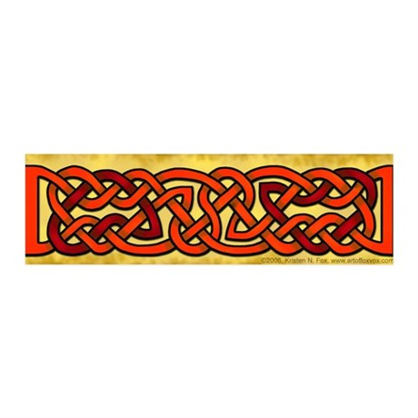 Celtic Red-Orange 42x14 Wall Peel