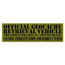 Official Geocache Reteieval Bumper Bumper Sticker