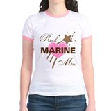 Proud Marine Mom Heart T