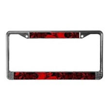Vampire Bats Red License Plate Frame