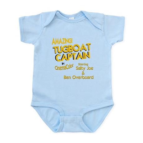 funny tugboat captain Infant Bodysuit