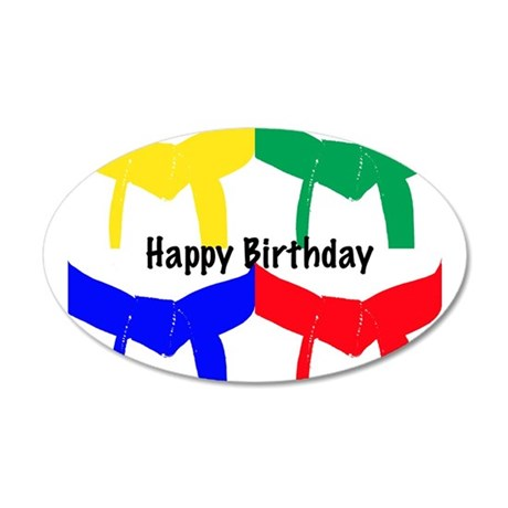 Martial Arts Happy Birthday 38.5 x 24.5 Oval Wall