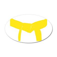Martial Arts Yellow Belt 22x14 Oval Wall Peel