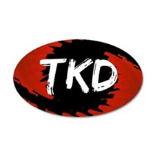 TKD Hurricane 38.5 x 24.5 Oval Wall Peel