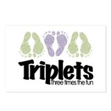 Triplets (unisex) Three Times Postcards (Package o