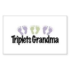 Triplets Grandma (Unisex) Decal