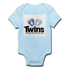 Twins (Boy) - Twice as much f Infant Bodysuit