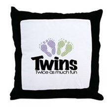 Twin (Unisex) - Twice the Fun Throw Pillow