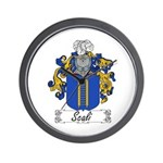 Scali Family Crest Wall Clock