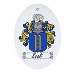 Scali Family Crest Oval Ornament