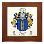 Scali Family Crest Framed Tile