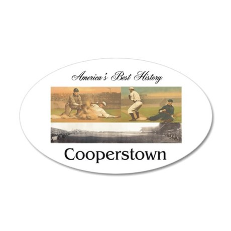 ABH Cooperstown 35x21 Oval Wall Decal