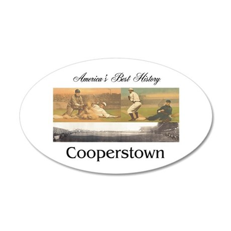 ABH Cooperstown 20x12 Oval Wall Decal