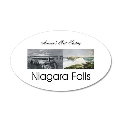 ABH Niagara Falls 20x12 Oval Wall Decal